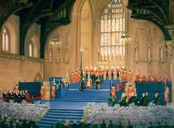 Elizabeth II Receiving the Jubilee Address in Westminster Hall, 1977