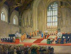 Her Majesty the Queen Addressing Both Houses of Parliament on the Occasion of Her Golden Jubilee, Westminster Hall
