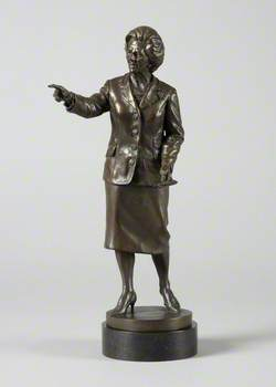 Maquette of Baroness Thatcher (1925–2013)