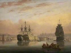 Warships at Devonport (?)