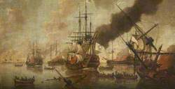 Destruction of French Fleet by British Fire Ships