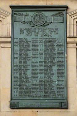 Highland Railway Company Memorial