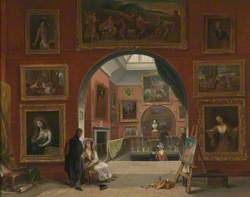 Interior of the British Institution (Old Master Exhibition, Summer 1832)