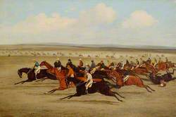The 1850 Cambridgeshire Stakes: Start of the Race