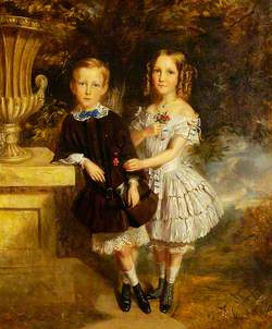 Boy and Girl in Landscape