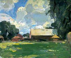 Farm Buildings in a Landscape