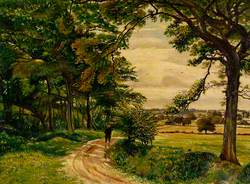 Rural Lane with Figure