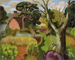 Cedric Morris in His Garden