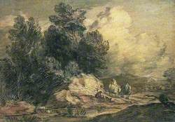 Wooded Landscape with Travellers