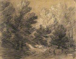 Study of a Wooded Landscape with Country Lane