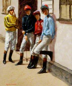 Jockeys' Room Doorway, Newmarket, Suffolk