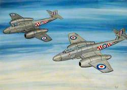 Gloster Meteors in Formation