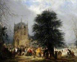 The Burial of Sir Francis Chantrey in Norton Churchyard, Sheffield