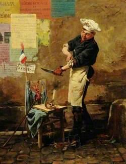 A Rat Seller during the Siege of Paris