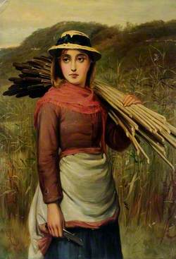 Portrait with Bullrushes