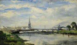 River Scene with a Church