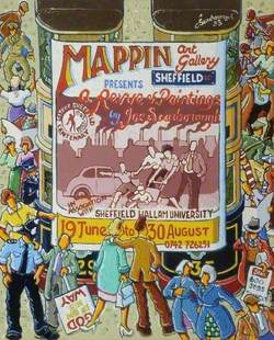 'A Review of Paintings by Joe Scarborough', Mappin Art Gallery, Sheffield, Advertisement