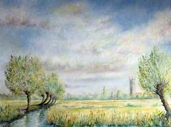 Somerset Levels with Church
