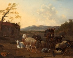 Landscape with a Sleeping Herdsman
