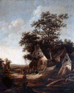 Landscape with Peasants Dancing