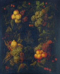 Fruit Garland Encircling a Relief