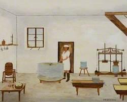Cheese-Making at Blake's Farm, Oakhill, c.1935
