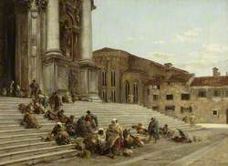 On the Steps of a Venetian Church