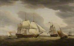 East Indiaman 'Taunton Castle', Captain James Urnston, Built by Mr Barnard for Sir Benjamin Hammet, 1790