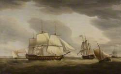 East Indiaman 'Taunton Castle', Captain James Urnston, Built by Mr Barnard for Sir Benjamin Hammet, 1790