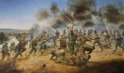 Lieutenant George Cairns Winning the Victoria Cross at the Battle of Pagoda Hill, Burma, 13 March 1944