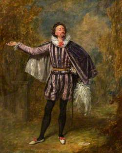 William Pleater Davidge as Malvolio in 'Twelfth Night' by William Shakespeare