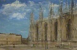 An Exterior View of Milan Cathedral
