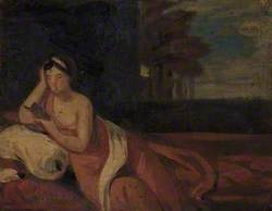 Reclining Woman, Reading