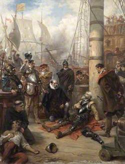 The Death of Captain Grenville, Captain of the 'Revenge'