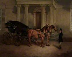 Rode Manor, Carriage and Pair at the Porch