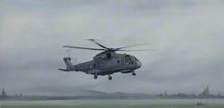 Merlin Helicopter Hovering