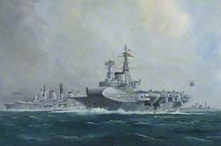 HMS 'Hermes' and HMS 'Invincible'