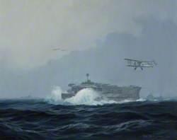 HMS 'Furious' with Swordfish, 1942