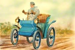 Blue Veteran Car