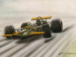 Green Racing Car No. 6