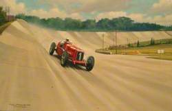 Breaking the Brooklands Track Record, Kaye Don in Sunbeam