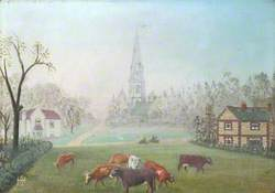 Ranmore Common, Dorking, Surrey, with Post Office and Dispensary