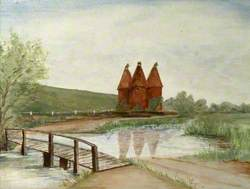 Landscape with Oasthouses