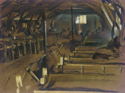 Interior of an Adrian Hut
