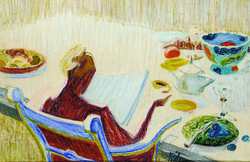 Woman at a Tea-Table
