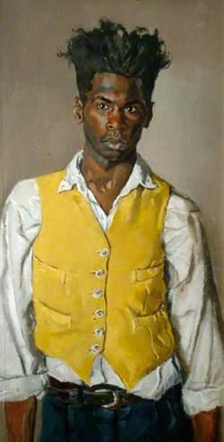 Self Portrait in a Yellow Waistcoat