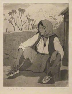 A Dalmatian Peasant Resting