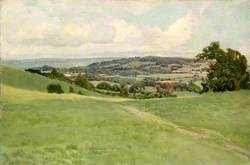 View of North Downs in East Surrey