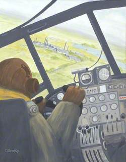 Pilot in Wellington over Dumfries