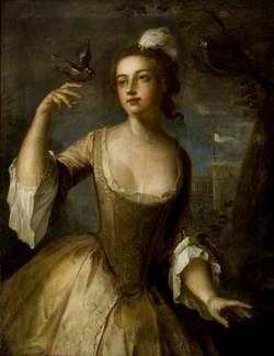 Young Woman with Goldfinch (Air)
